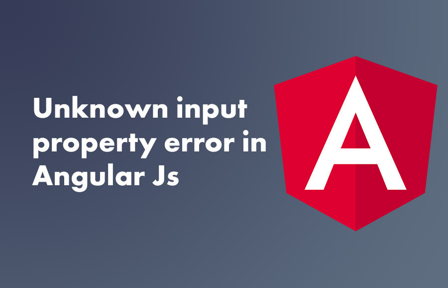 Unknown  input property error in Angular Js