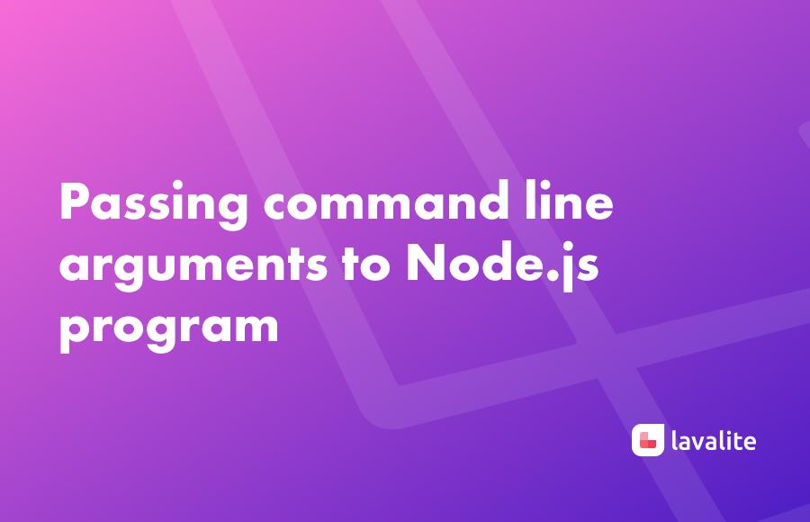 Passing command line arguments to Node js program - Lavalite