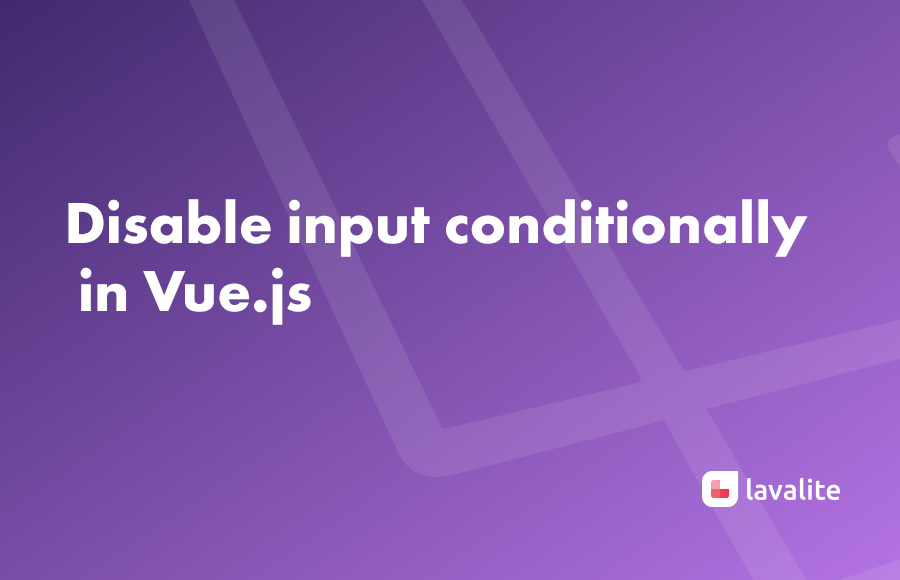 Disable input conditionally in Vue.js