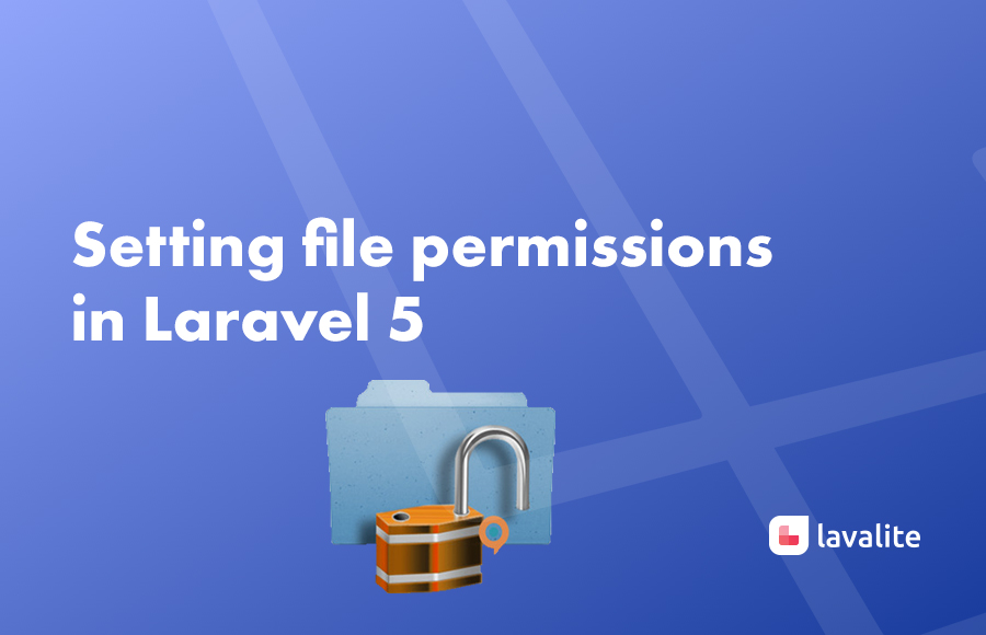 Setting file permissions in Laravel 5