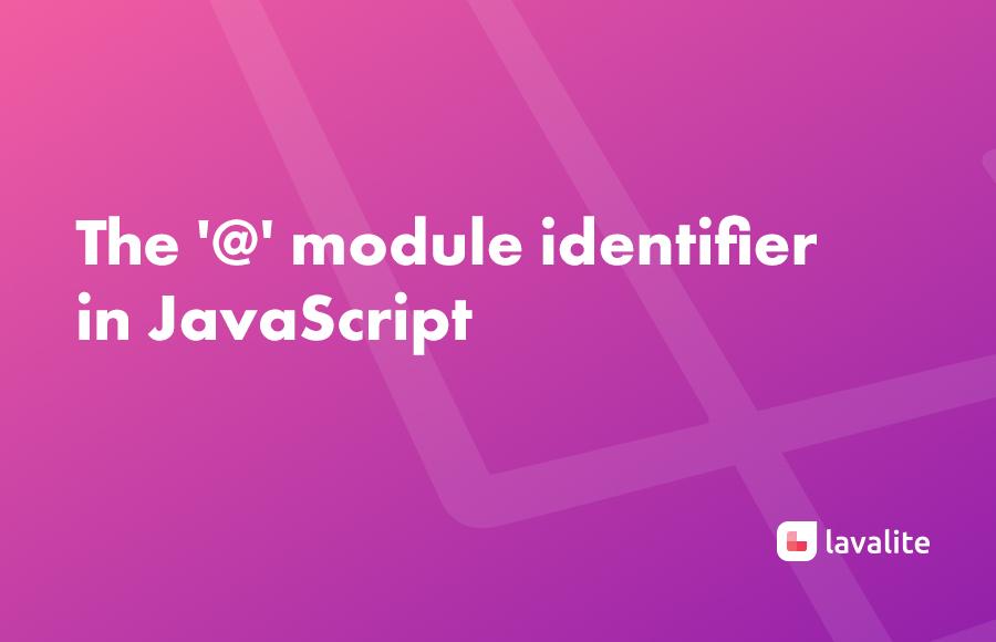 The '@'  module identifier in JavaScript
