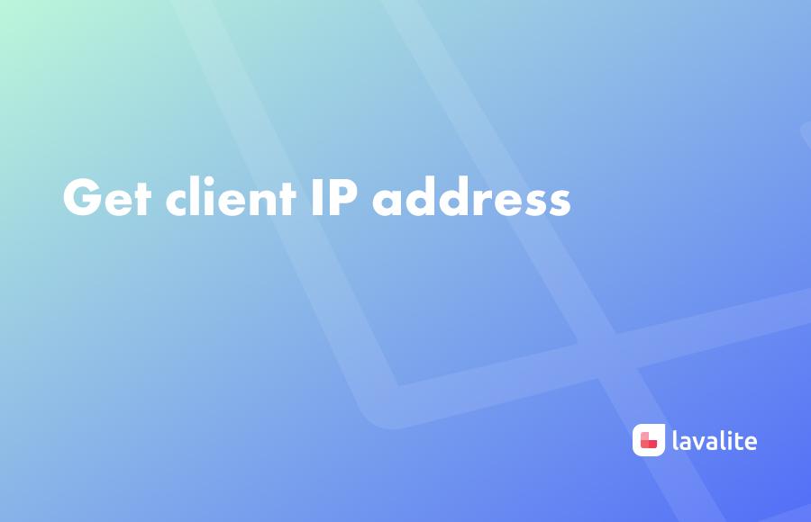 Get client IP address