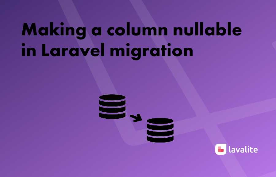 Making a column nullable in Laravel migration