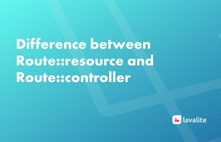 Difference between Route::resource and Route::controller