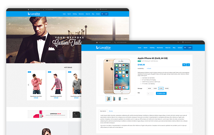 E-commerce website script in PHP laravel - Lavalite