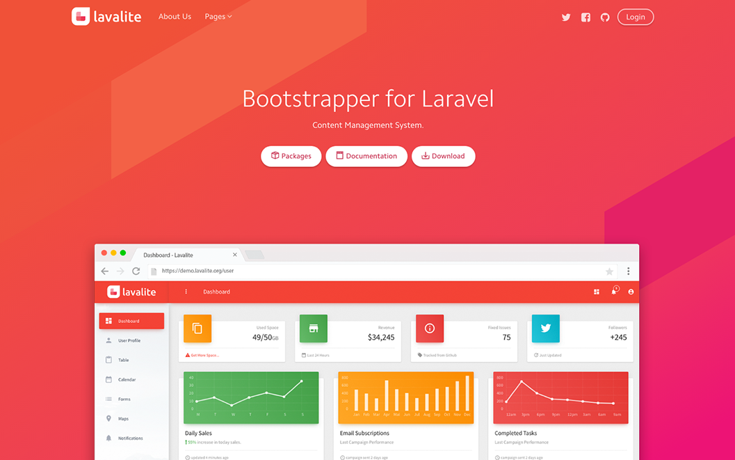 Laravel CMS and Admin framework  - Lavalite